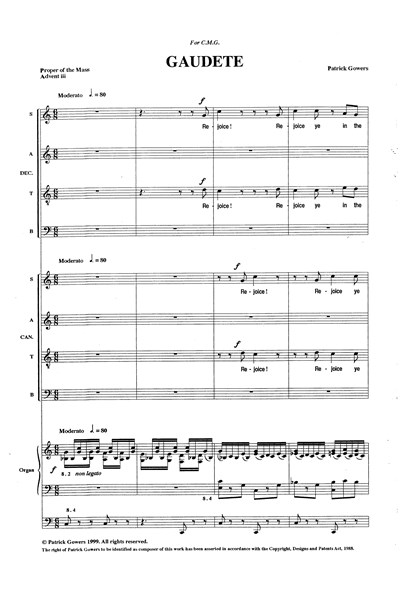 Gowers: Gaudate (double SATB)