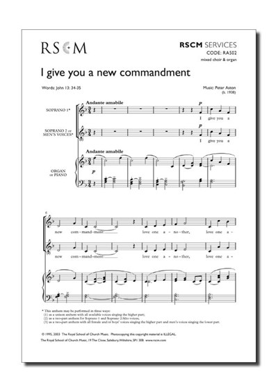 Aston: I give you a new commandment (2-pt)