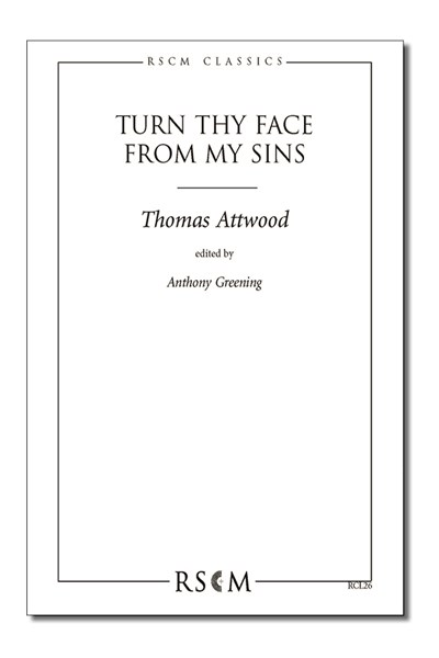 Attwood: Turn thy face from my sins