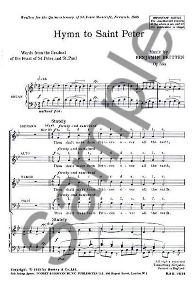 Britten: Hymn to St Peter