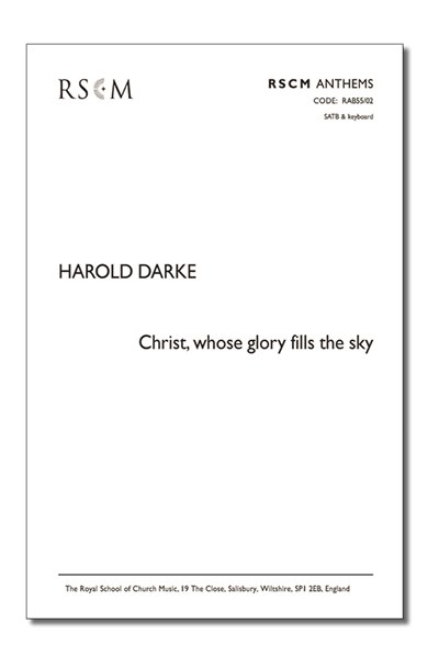 Darke: Christ whose glory fills the sky