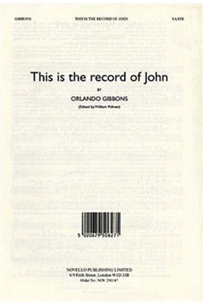 Gibbons: This is the record of John (ed. Palmer)