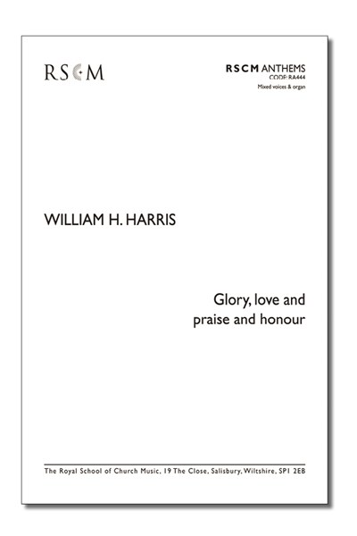 Harris: Glory, love, and praise and honour