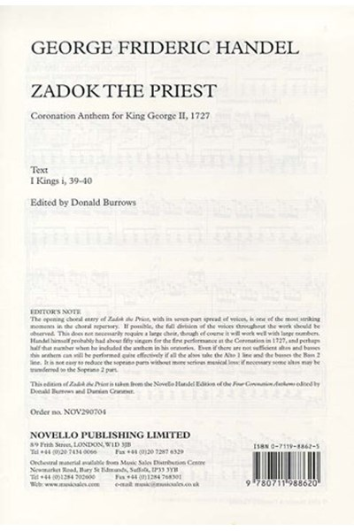 Handel: Zadok the priest (SSAATBB)
