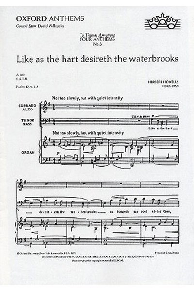 Howells: Like as the hart desireth the waterbrooks