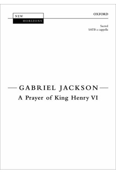 Jackson: A Prayer of King Henry VI