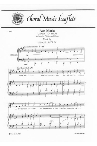 Lindley: Ave Maria (Litany to Mary) (U)