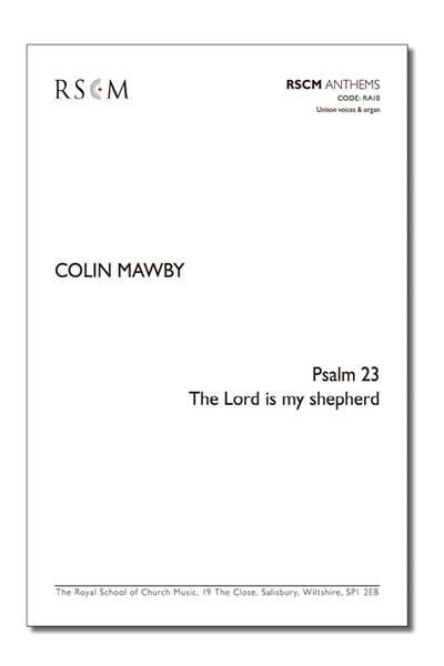 Mawby: Psalm 23: The Lord is my shepherd (U)