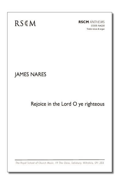 Nares: Rejoice in the Lord, O ye righteous