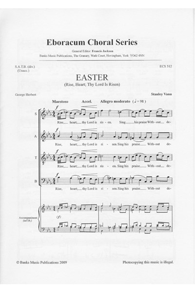 Vann: Easter (Rise, heart; thy Lord is risen)
