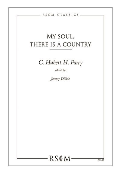 Parry: My soul, there is a country (ed. Dibble)