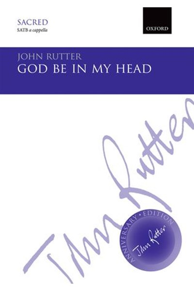 Rutter: God be in my head (SATB)