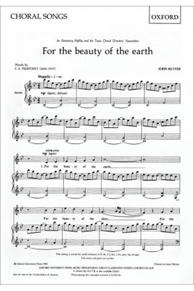 Rutter: For the beauty of the earth (SS)