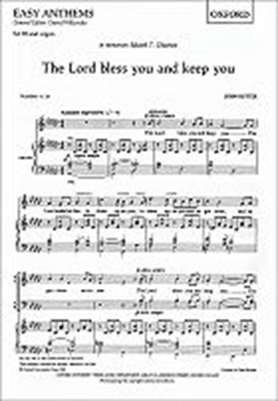 Rutter: The Lord bless you and keep you (SATB)