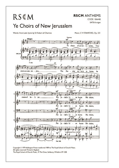 Stanford: Ye choirs of new Jerusalem