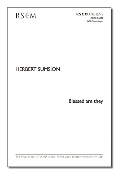 Sumsion: Blessed are they