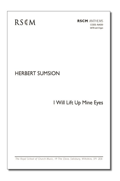 Sumsion: I will lift up mine eyes