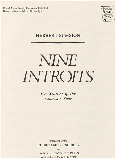 Sumsion: Nine Introits for seasons of the Church's Year