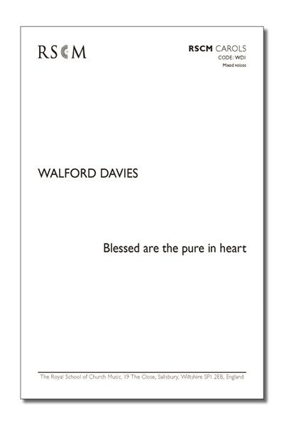 Walford Davies: Blessed are the pure in heart