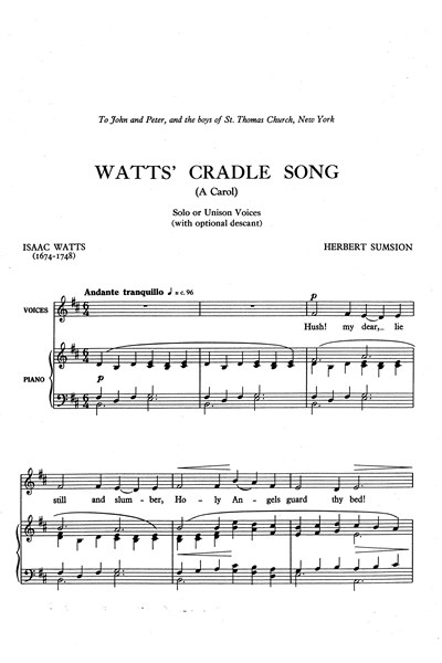 Sumsion: Watt's Cradle Carol