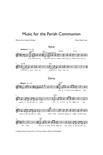How: Music for the Parish Communion (melody)