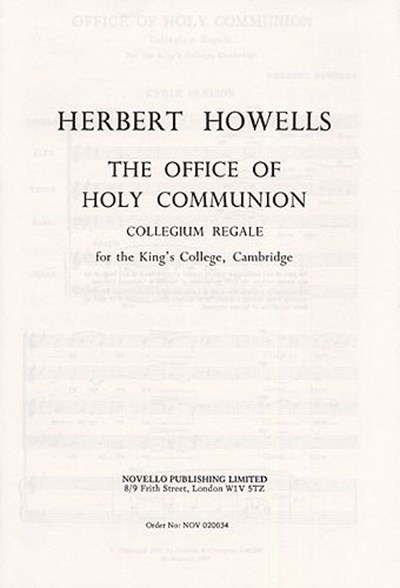 Howells: Holy Communion Collegium Regale
