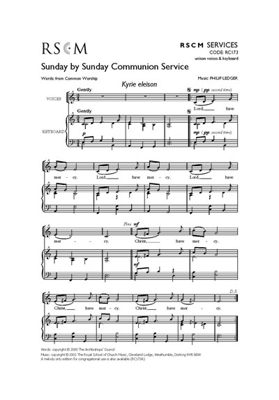 Ledger: Sunday by Sunday Communion - Common Worship Order One (full)