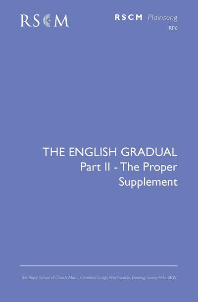 English Gradual: Propers - Supplement.