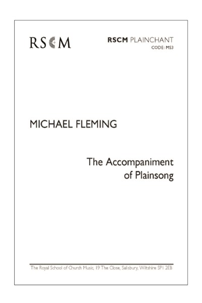 Fleming: The Accompaniment of Plainsong