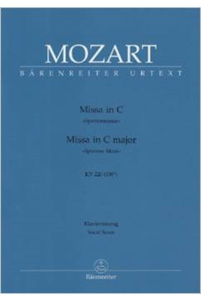 Mozart: Mass in C, KV220 'Sparrow Mass' (Vocal score)