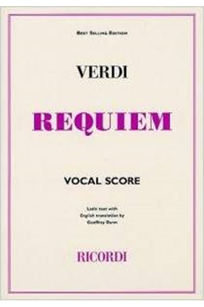 Verdi: Requiem (Ricordi vocal score)