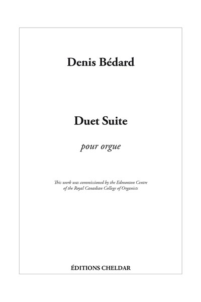 Bedard: Duet Suite for organ and piano