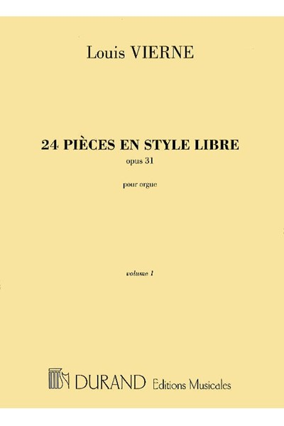 Vierne: 24 pieces en style libre volume 1