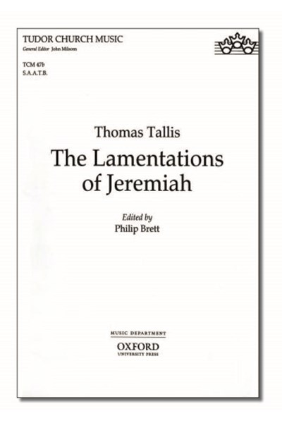 Tallis: The Lamentations of Jeremiah (SAATB Vocal score)