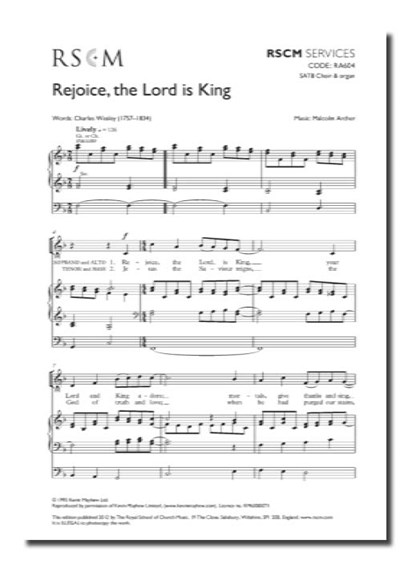 Archer: Rejoice the Lord Is King SATB & Organ