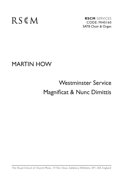 How: Westminster Service