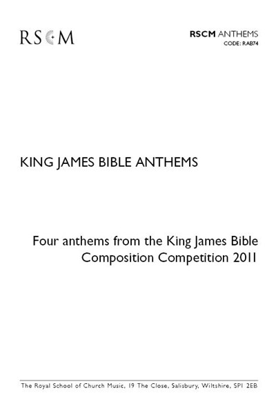 King James Bible Anthems