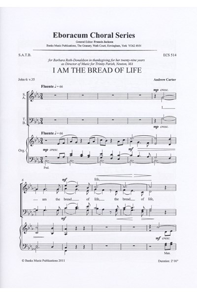 Carter: I am the bread of life