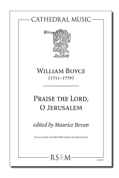Boyce: Praise the Lord, O Jerusalem (ed. Bevan)