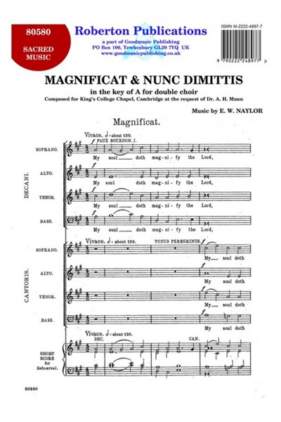 Naylor: Magnificat & Nunc Dimittis in A