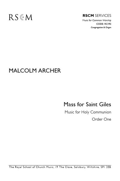 Archer: Mass for St Giles