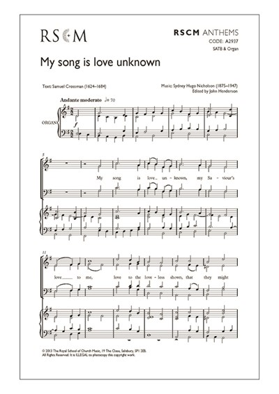Nicholson: My song is love unknown