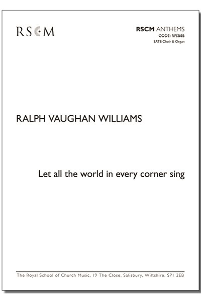 Vaughan Williams: Let all the world (ed. Jackson)