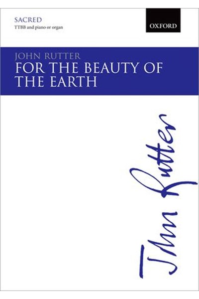 Rutter: For the beauty of the earth TTBB