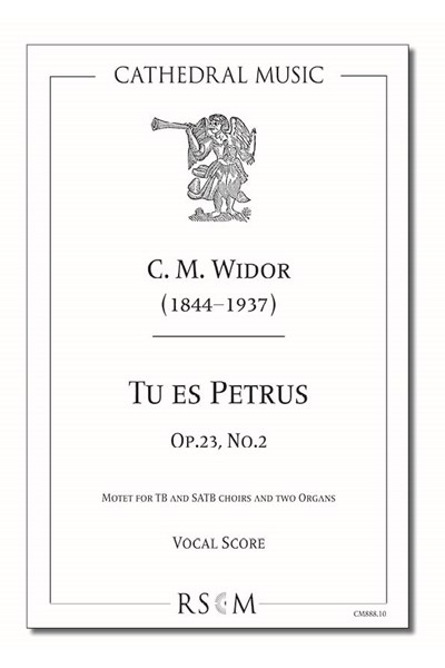 Widor: Tu es Petrus (Vocal score)