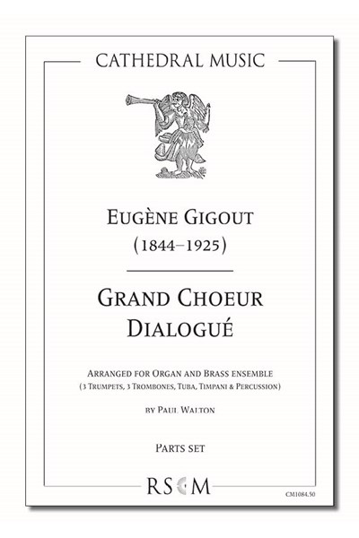 Gigout: Grand Choeur Dialogué (arr. Walton), Organ and 6/7 part brass ensemble (Parts set)
