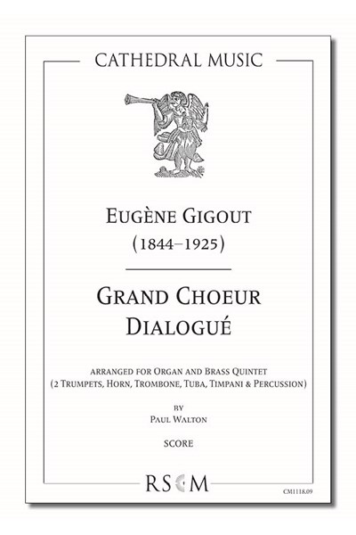 Gigout: Grand Choeur Dialogué (arr. Walton), Organ and 5 part brass ensemble (Score)
