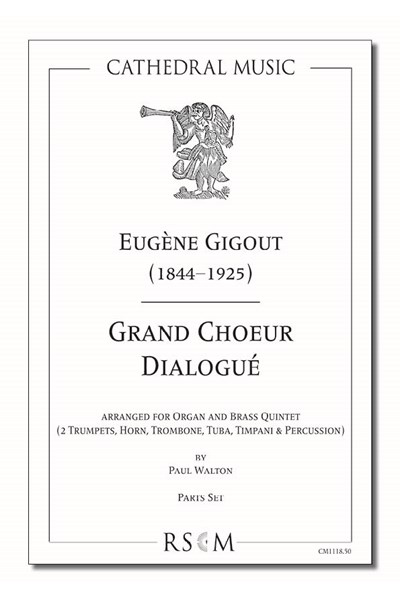 Gigout: Grand Choeur Dialogué (arr. Walton), Organ and 5 part brass ensemble (Parts set)