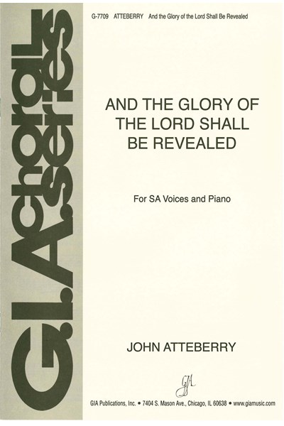 Atteberry: And the glory of the Lord shall be revealed