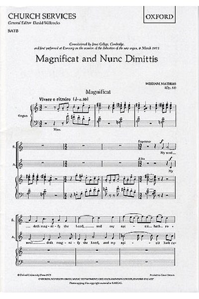 Mathias: Magnificat and Nunc Dimittis Jesus College